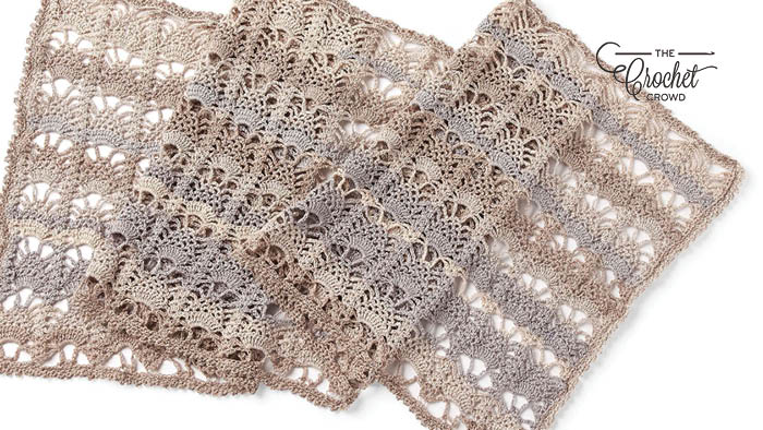 Crochet Pineapple Lace Shawl Pattern
