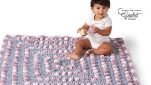 Crochet Poppin Baby Blanket
