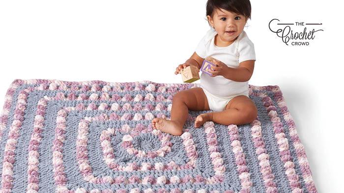Crochet Baby Poppin Blanket Pattern