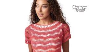 Crochet Zig Zag Top