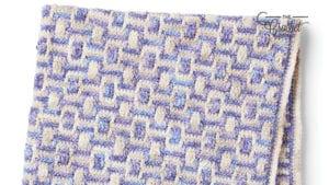 Mosaic Crochet Baby Blanket