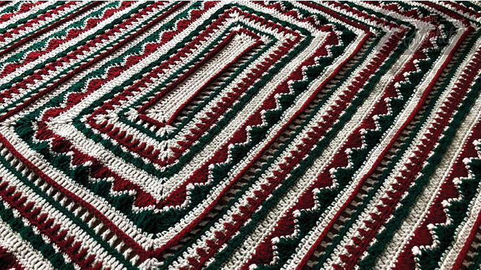 Crochet Christmas Trimmings Afghan