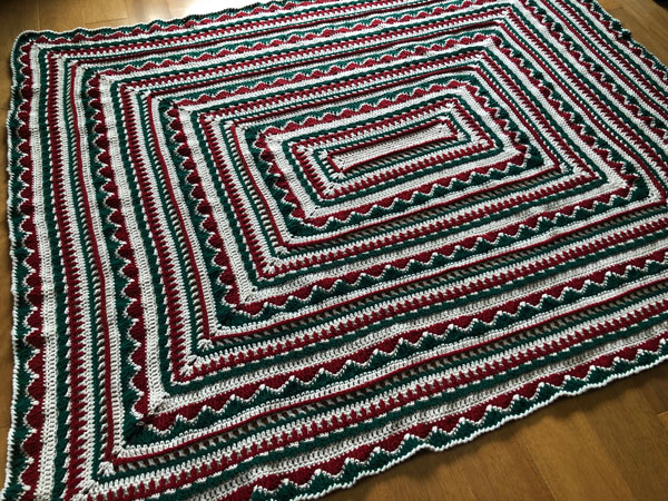 Crochet Christmas Trimmings Afghan by Jeanne Steinhilber