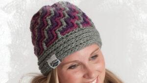 Crochet Crystal Ice Hat