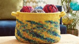 Crochet Dipped Basket Edge Variegated