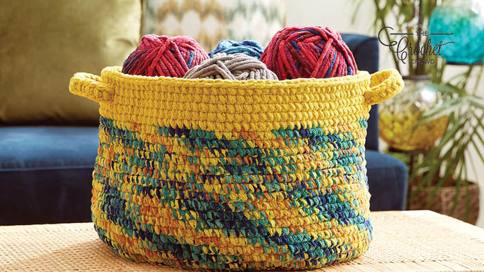 Crochet Dipped Basket Edge Variegated