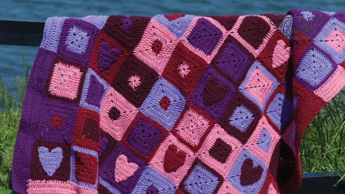 Simple Heart Applique Crochet Pattern