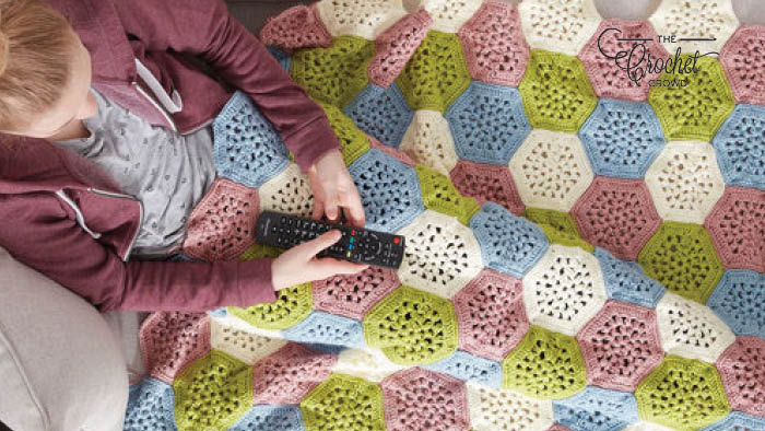 Crochet Hexagon Afghan Pattern