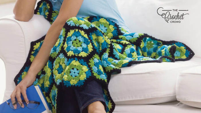 Crochet Hexagon Throw