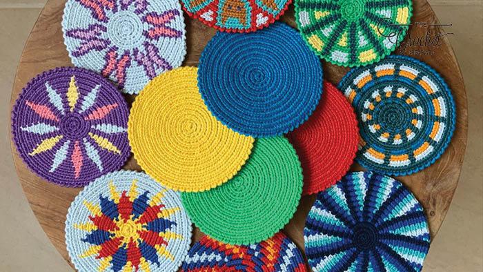 Crochet Mochila Coasters