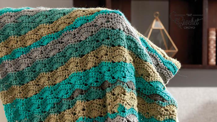 Crochet Wavy Mid Century Afghan