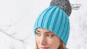 Easy Fit Ribbed Pom Pom Hat