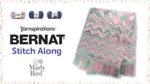 Knit Chevron & Entrelac Blanket