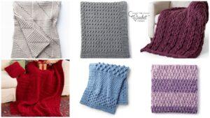 6 Crochet Textured Blankets