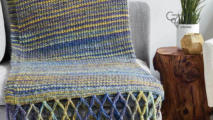Bernat Symphony Knit Simple Texture Blanket
