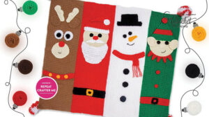 Crochet Along Christmas Characters Blanket