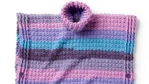 Crochet Anniversary Cakes Poncho