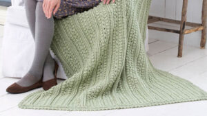 Crochet Aran Isle Blanket