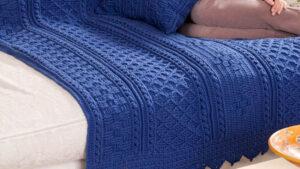 Crochet Basketweave Diamond Blanket
