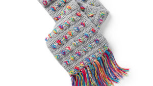 Crochet Bobble Scarf