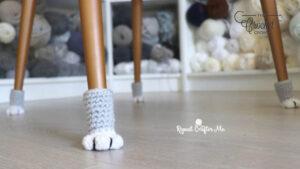 Crochet Cat Paw Chair Socks