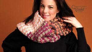 Crochet Dotty Infinity Cowl