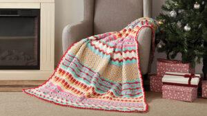 Crochet Happy Holiday Throw