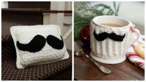 Crochet Moustache Accent