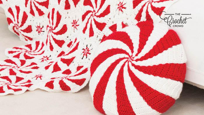 Crochet Peppermint Pillow Pattern The Crochet Crowd