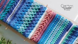 Crochet Sampler Blues Afghan