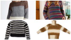Crochet Striped Sweaters