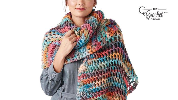 Crochet Turkish Stitch Shawl