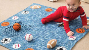 Crochet Young Athlete Blanket Rattles