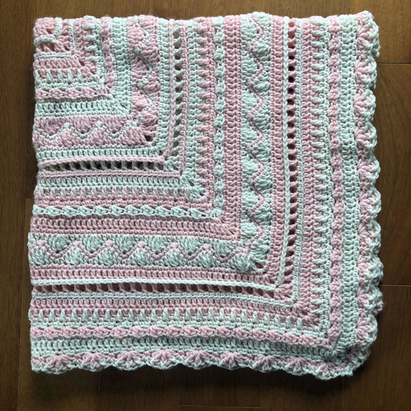Sweet Pink Baby Blanket by Jeanne Steinhilber