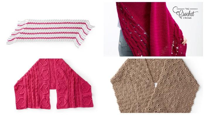 Textured Crochet shawls