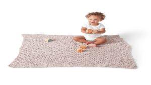 Crochet Velvety Filet Baby Blanket