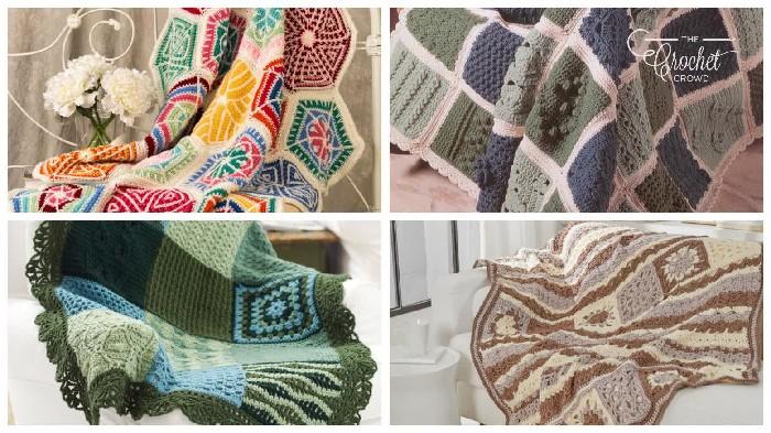 crochet sampler blanket