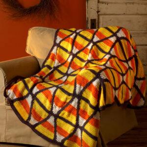 Crochet Candy Corn Throw