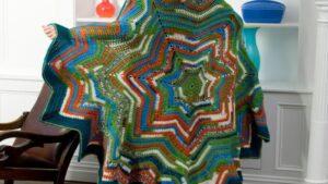 Crochet 7 Point Star Throw