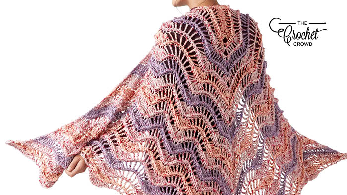 Crochet Crest of Waves Shawl
