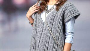 Crochet Deep Vee Vest