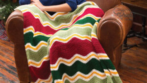 Crochet Holiday Chevron Throw