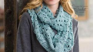 Crochet Lacy Infinity Cowl