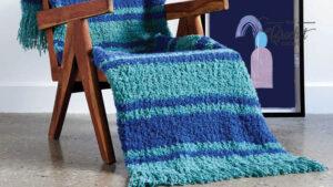 Crochet Nautical Stripes Blanket
