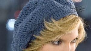 Crochet Track Stitch Beret