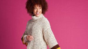 Crochet Tweedy Pullover Top