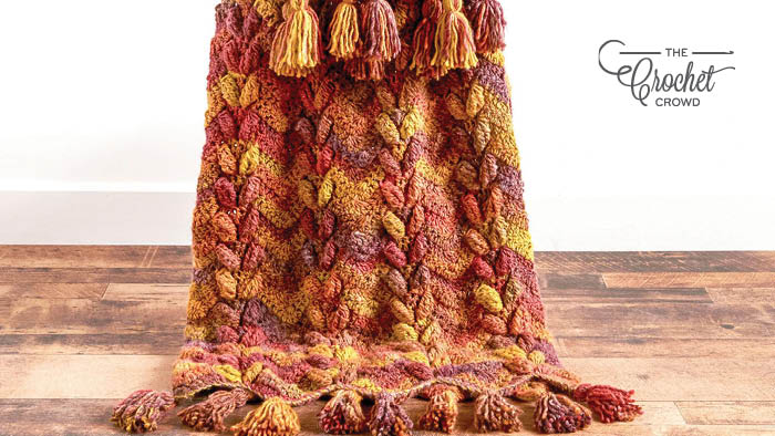Crochet Waves and Leaves Blanket