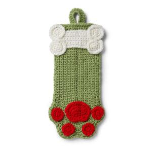 Crochet Dog Paw Stocking