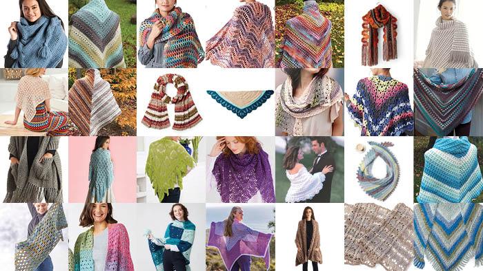 Mega Shawl Crochet Round Up