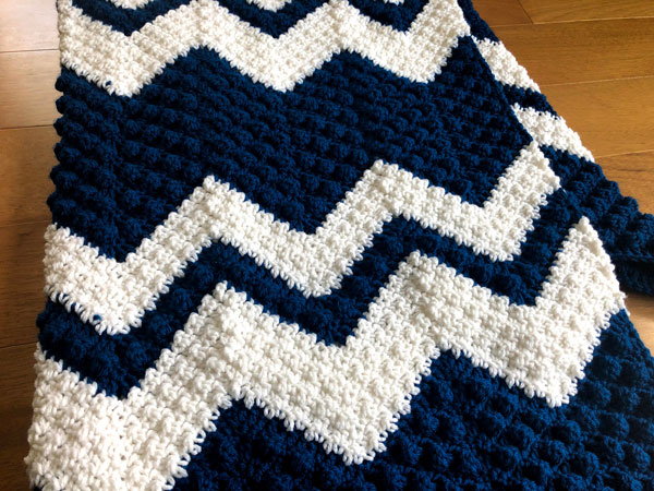 Stepping Textures Chevron Afghan by Jeanne Steinhilber